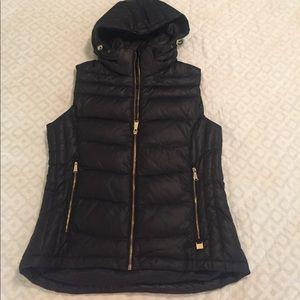 Michael Kors Jackets & Blazers - Michael Kors Black with Gold Puffer Vest