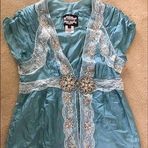 meghan fabulous Tops - Meghan Fabulous Silk Top