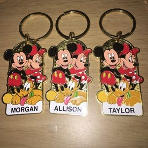Authentic Name Disney Keychain-Choose 1