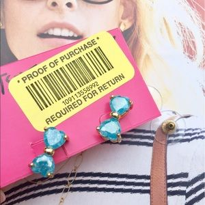 Betsey Johnson Jewelry - Betsey Johnson Bow Tie Turquoise Studs NWT