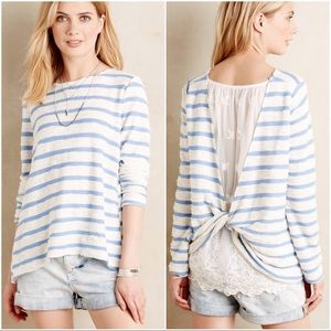 Anthropologie Tops - Sullivan and James striped lace ingleside top S