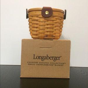 Longaberger saddlebrook basket purse NIB Adorable!
