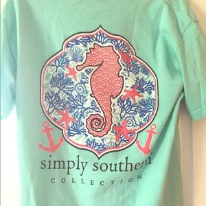 Simply Southern Tops - Simply Southern Sea Horse Beach T Shirt