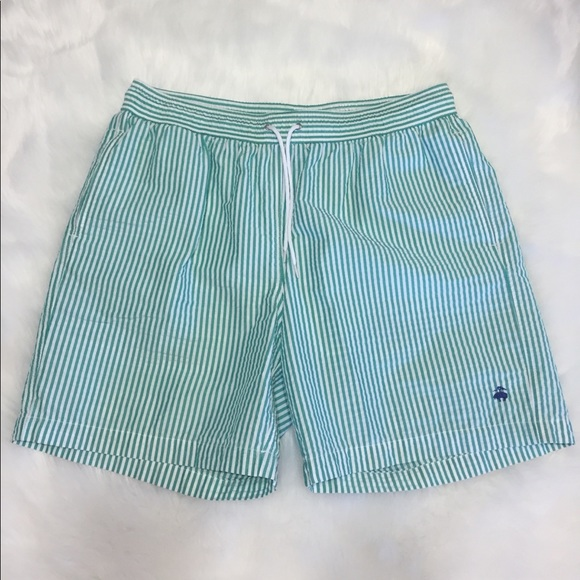 6641fff6e4 Brooks Brothers Other - Brooks Brother's Swim Trunks Green/White Striped