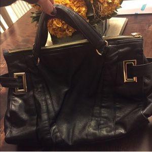 Kooba Handbags - Kooba black leather bag.