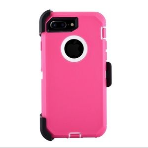 Accessories - iPhone 7 and 7 Plus Pink Heavy Duty Case/ holster
