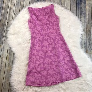 Ann Taylor Dresses - Ann Taylor Pink Floral Silk Pleated Sheath Dress