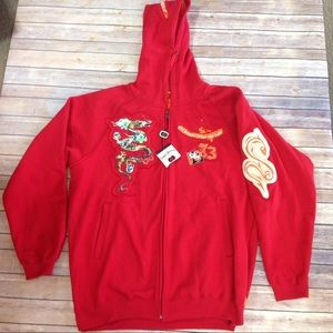 Pepe Jeans Other - NWT Men's 3XL PePeJeans Hoodie Red Dragon Full Zip