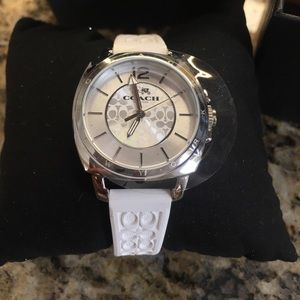Coach Accessories - Coach Boyfriend Women's White Quartz Watch NIB