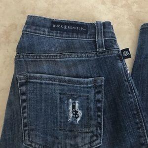 Rock & Republic Berlin distressed jeans size 4m