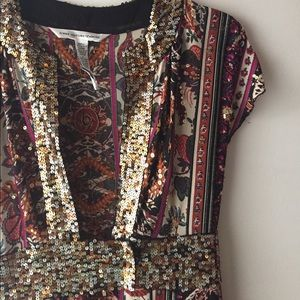 Diane von Furstenberg Dresses & Skirts - 1 day sale! DVF sequin neckline dress 💃🏽