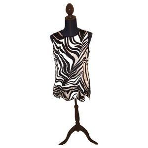 Vince camuto zebra print blouse