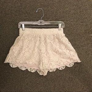 Free people white lace eyelet shorts