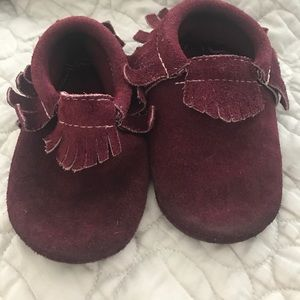 Freshly Picked Other - Freshly picked burgundy suede moccs size 5
