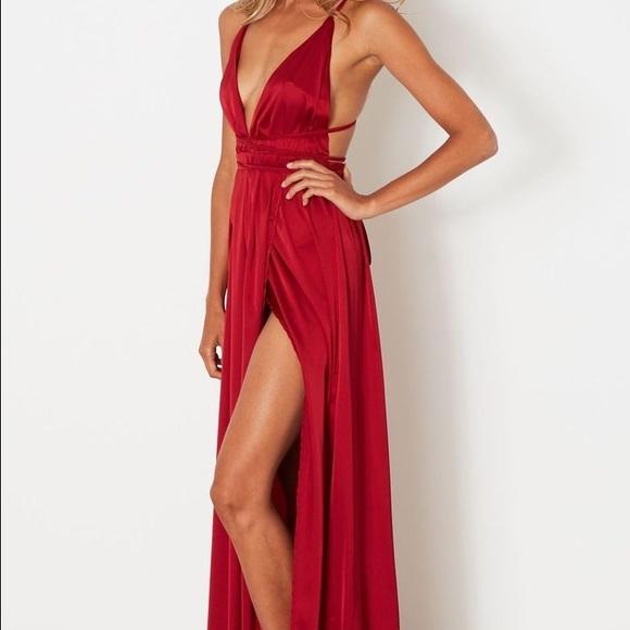 c1c34df76d4 Whitefox Boutique Akela Maxi Dress Wine