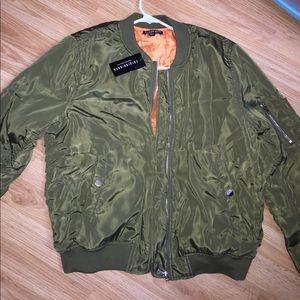 Fashion Nova Jackets & Blazers - Olive green bomber jacket