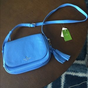kate spade Handbags - Kate Spade blue tassel cross-body