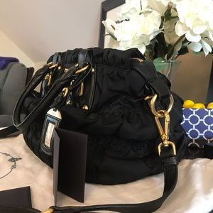 89318c956794 Prada Bags | Ruched Nylon Tessuto Gaufre Bag Nero Bn1336 | Poshmark