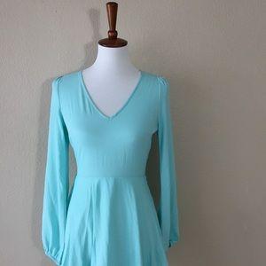 Sage Dresses & Skirts - {Sage} Baby Blue Lace Trim A-Line Dress