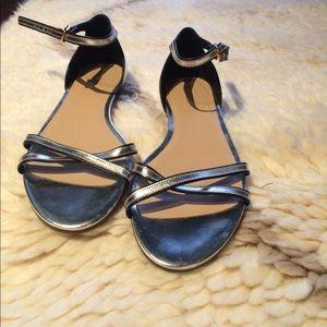 Brand new J.Crew Silver sandals