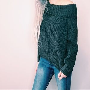 Gray Oversized Off Shoulder Sweater❤NWT