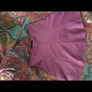 Pleated Mauve Mini Skirt