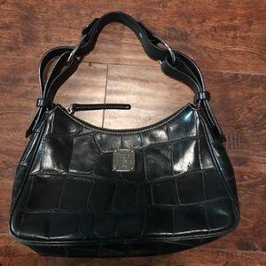 Dooney & Bourke Handbags - Dooney and Bourke croc black leather shoulder bag