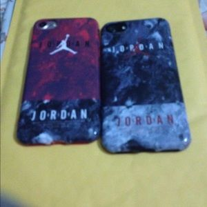 Other - iPhone 7/7plus/6/6plus Black and white Jordan's
