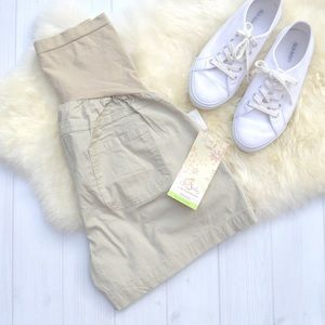 Motherhood Maternity Pants - Maternity Tan Cargo Shorts Oh Baby by Motherhood L