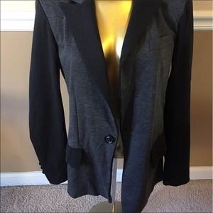 Jackets & Blazers - Grey & Black Blazer