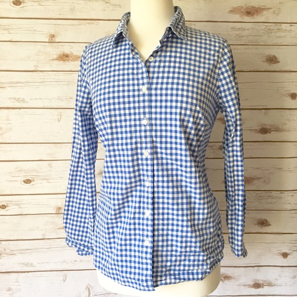 44 off j crew tops j crew the perfect shirt blue for Blue gingham button down shirt