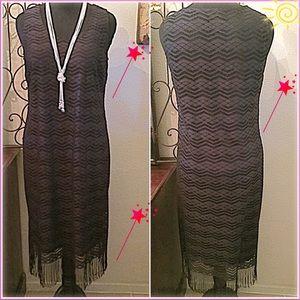 Slinky Brand Dresses & Skirts - 30% OFF BUNDLES✨Gorgeous Cut-Out Midi Fringe Dress