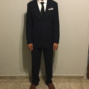 Perry Ellis Other - Perry Ellis Navy Suit Classic Fit 42L