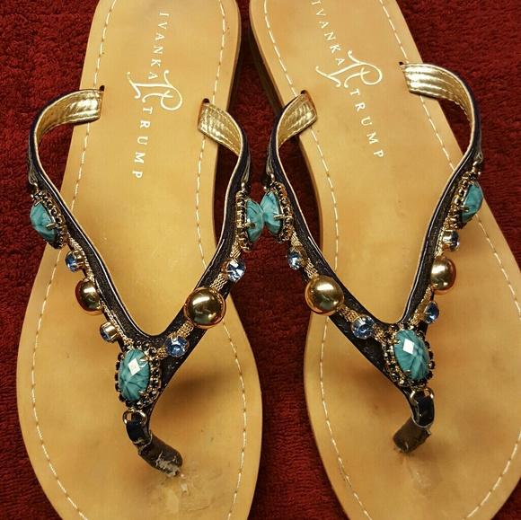 e7d3044535da96 Ivanka Trump Shoes - ○CLEARANCE○IVANKA TRUMP SAPPHIRE JEWELED SANDALS