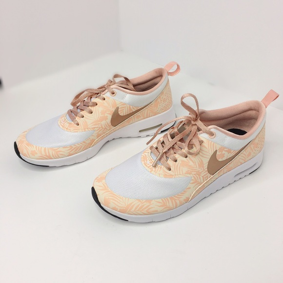 ??Last price?? Nike Air max Thea rose gold floral NWT