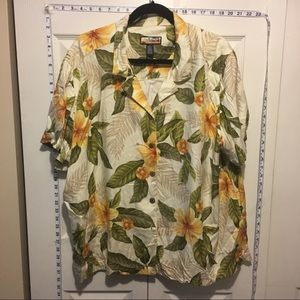 Tops - 30% Off Bundles Yellow & Cream Hawaiian Button Up