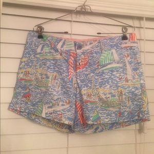 Lilly Pulitzer Pants - Lilly Pulitzer Get Nauti Callahan Sailboat shorts