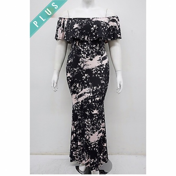 Plus size tie dye maxi dress
