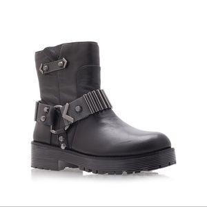 Kurt Geiger Shoes - Kurt Geiger Leather Chunky Moto Harness Boots
