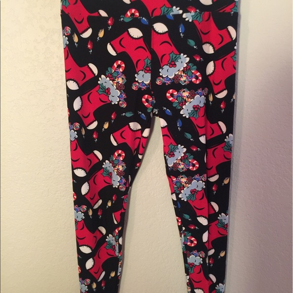 583b1d95990439 LuLaRoe Pants | Holiday Leggings | Poshmark