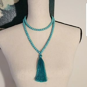 Healing Stones Turquoise Necklace w/ tassel
