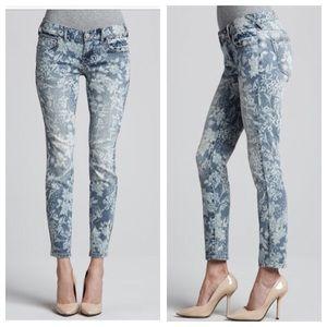 Free People Denim - Free People Hawaiian Floral Skinny Jeans
