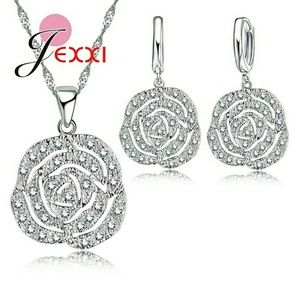 Jewelry - Sterling silver jewelry set with cubic zirconia