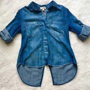 Anthropologie Cloth & Stone Denim Chambray Top