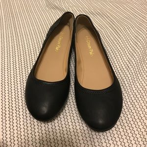 Shoes - BLACK BALLERINA FLATS