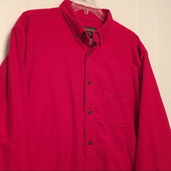 58 off woolrich other woolrich 100 cotton red heavy for Heavy button down shirts