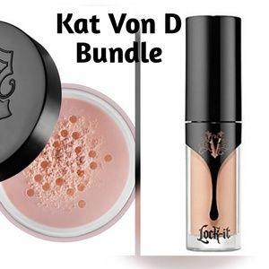 Kat Von D Other - Kat Von D Lock It Brightening Powder & Concealer