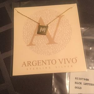 Argento Vivo Jewelry - Argento Vivo Letter Necklace!