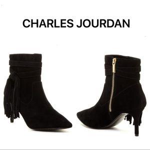 Charles Jourdan FERRIS Fringe Bootie size 8