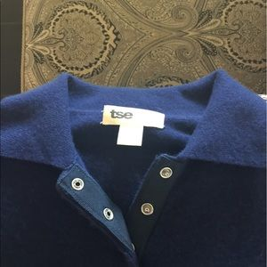 TSESAY Royal Blue Cashmere Polo Shirt